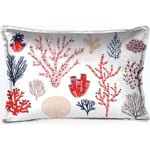 Barevný dekorativní povlak na polštář Velvet Atelier Plankton, 50 x 35 cm