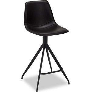 Sada 2 černých barových židlí Furnhouse Isabel