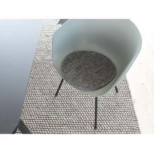 Antracitový plstěný podsedák z vlny Wooldot Felt Chair Pad, ⌀ 40 cm