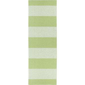 Zelený běhoun vhodný do exteriéru Narma Norrby, 70x200cm