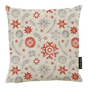 Vánoční polštář s bavlněným povlakem Butter Kings Snowflake Frost,50x50cm
