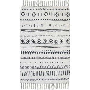 Černobílý bavlněný koberec HSM collection Colorful Living Manio, 150 x 210 cm