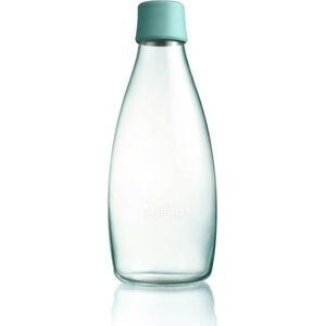 Tyrkysová skleněná lahev ReTap s doživotní zárukou, 800ml