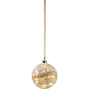 Oranžová LED světelná dekorace Best Season Glow Ball, ø 14 cm