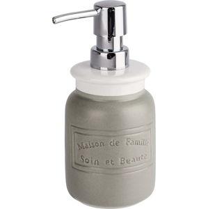 Šedobílý keramický dávkovač na mýdlo Wenko Maison