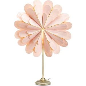 Růžová světelná dekorace Markslöjd Marigold, výška 68 cm