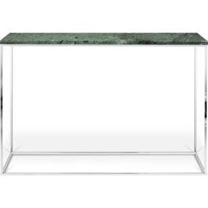 Zelený konzolový stolek s mramorovou deskou TemaHome