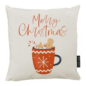 Vánoční polštář s bavlněným povlakem Butter Kings Cacao,50x50cm