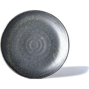 Černý keramický talíř MIJ BB, ø 24,5 cm