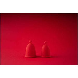 Sada 2 červených menstruačních kalíšků Whoop.de.doo Duo