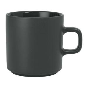 Černý keramický hrnek na čaj Blomus Pilar,250ml