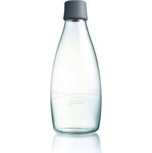Šedá skleněná lahev ReTap s doživotní zárukou, 800ml