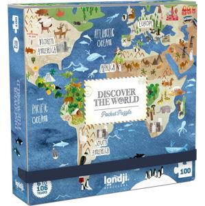 Kapesní puzzle kolem světa Londji, 100 dílků