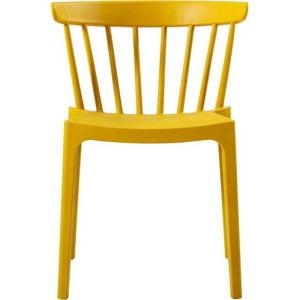 Žlutá jídelní židle vhodná do interiéru i exteriéru WOOOD Bliss