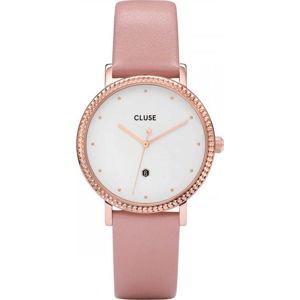 Dámské hodinky s růžovým koženým řemínkem Cluse Le Couronnement