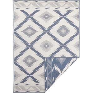 Modro-krémový venkovní koberec Bougari Malibu, 80 x 150 cm