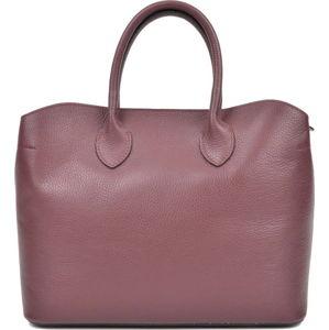 Vínově červená kožená kabelka se 3 kapsami Isabella Rhea