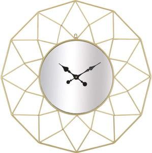 Nástěnné hodiny ve zlaté barvě Mauro Ferretti Stars, ⌀ 80 cm
