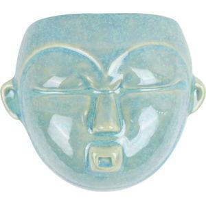 Zelený nástěnný květináč PT LIVING Mask, 18,1x14,5cm