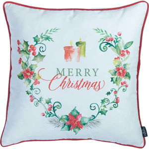 Povlak na polštář s vánočním motivem Apolena Honey Candles, 45 x 45 cm