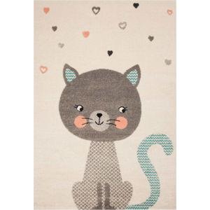 Dětský hnědý koberec Zala Living Cat,120x170cm