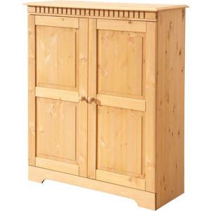 Dvoudveřová skříňka z masivního borovicového dřeva Støraa Candice
