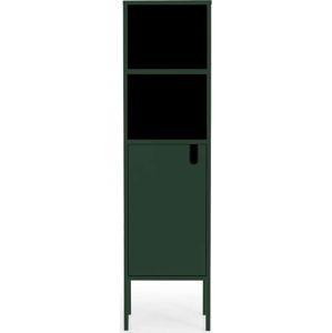 Tmavě zelená skříň Tenzo Uno, výška 152cm