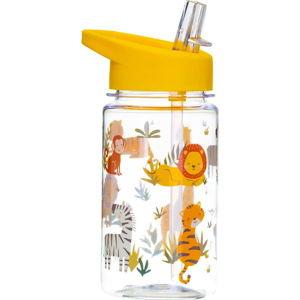 Dětská láhev na vodu s brčkem Sass & Belle Drink Up Safari,400ml