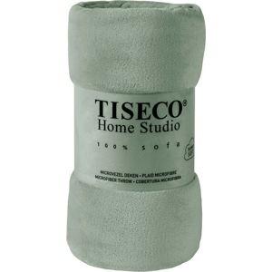 Zelená mikroplyšová deka Tiseco Home Studio,220x240cm