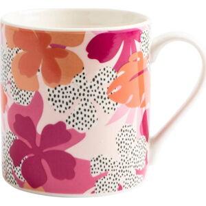 Růžový keramický hrneček Navigate Floral