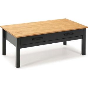 Modrý dřevěný konferenční stolek Marckeric Miranda