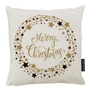 Vánoční polštář s bavlněným povlakem Butter Kings Stars Wreath,50x50cm