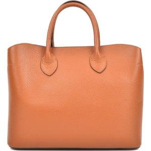 Hnědá kožená kabelka se 3 kapsami Isabella Rhea
