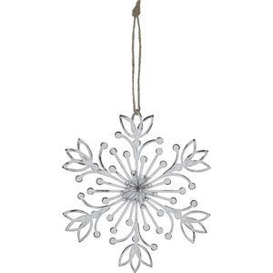 Bílá závěsná dekorace ve tvaru sněhové vločky Ego Dekor