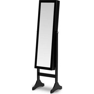 Černá stojací šperkovnice se zrcadlem Chez Ro Bien