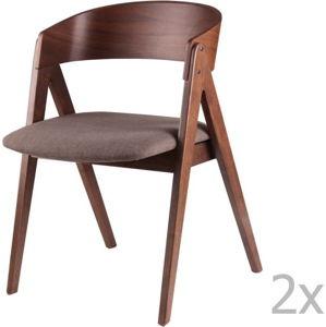 Sada 2 jídelních židlí s tmavě šedým podsedákem sømcasa Rina