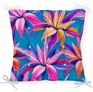 Podsedák s příměsí bavlny Minimalist Cushion Covers Bright Flowers, 40 x 40 cm