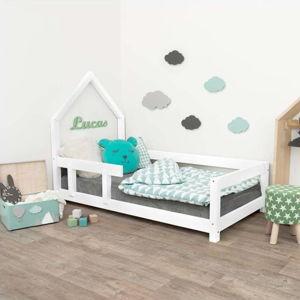 Bílá dřevěná dětská postel Benlemi Poppi,90x200cm