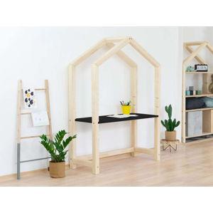 Přírodní dřevěný domečkový stůl s černou deskou BenlemiStolly, 97x133cm