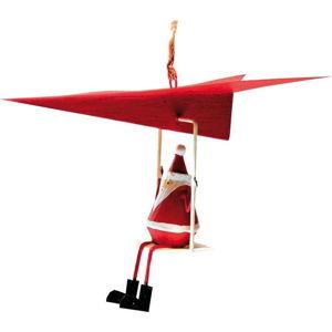 Vánoční závěsná ozdoba G-Bork Santa in Airplane