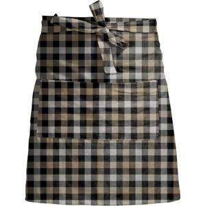 Kostkovaná zástěra s příměsí lnu Linen Couture Delantal Romantic Square