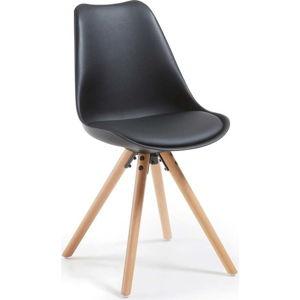 Černá židle s bukovými nohami loomi.design Lumos