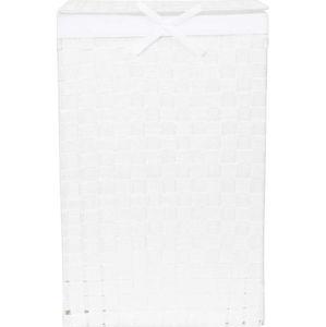 Bílý koš na prádlo s víkem Compactor Laundry Basket Linen, výška 60 cm