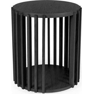 Černý odkládací stolek Woodman Drum,ø53cm