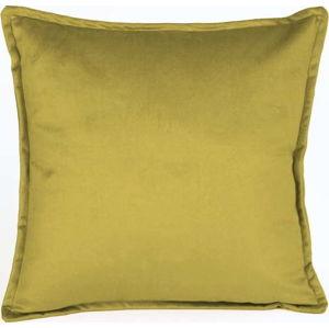 Žlutý dekorativní povlak na polštář Velvet Atelier, 45 x 45 cm