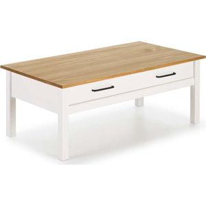 Bílý dřevěný konferenční stolek Marckeric Miranda