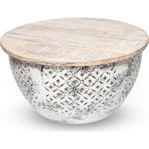 Konferenční ručně malovaný stolek RGE Levi, ⌀74cm