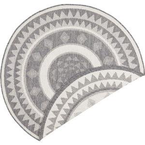 Šedo-krémový venkovní koberec Bougari Jamaica, ⌀ 140 cm
