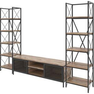 Set TV komody a 2 skříněk v dekoru borovicového dřeva Maxim