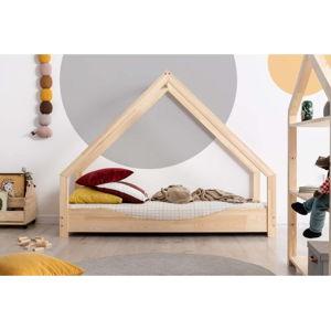 Domečková dětská postel z borovicového dřeva Adeko Loca Elin,80x150cm